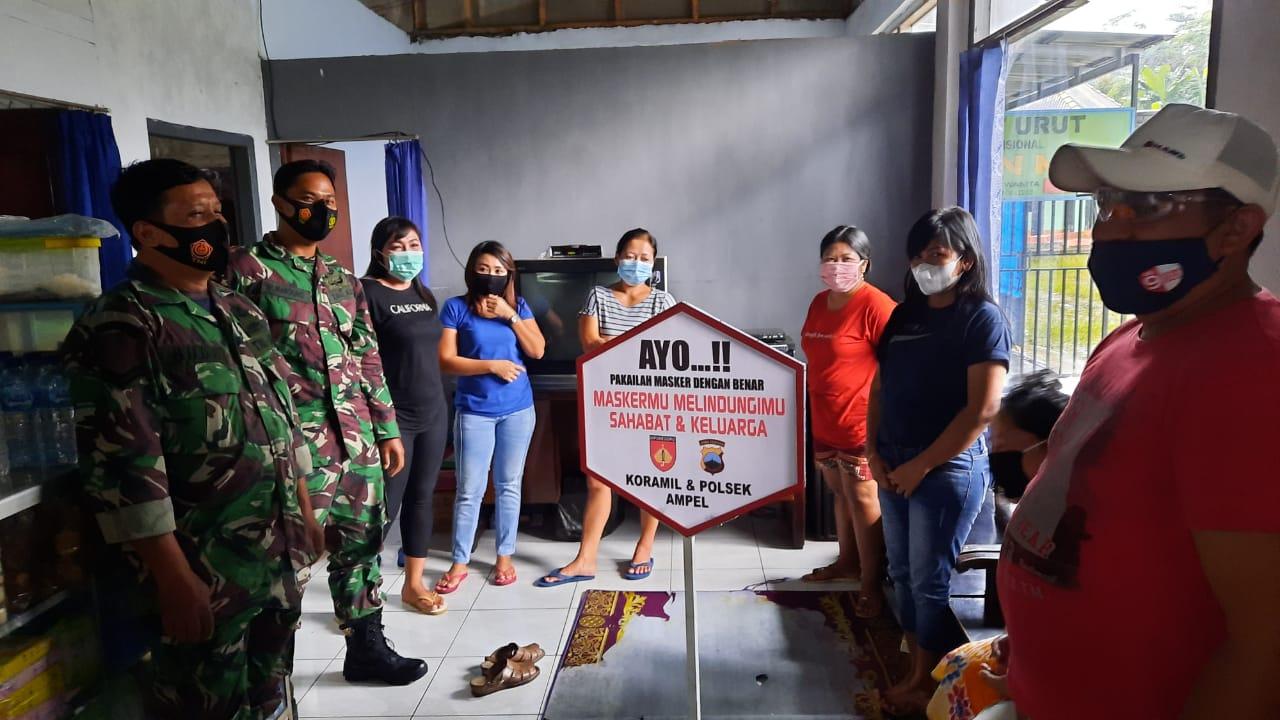 Operasi Cipta Kondisi PPKM Gabungan TNI Polri di Lereng Merapi
