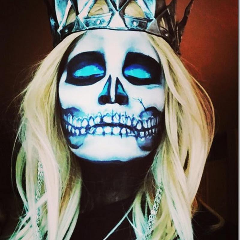 Maquillaje mujer muerta para halloween