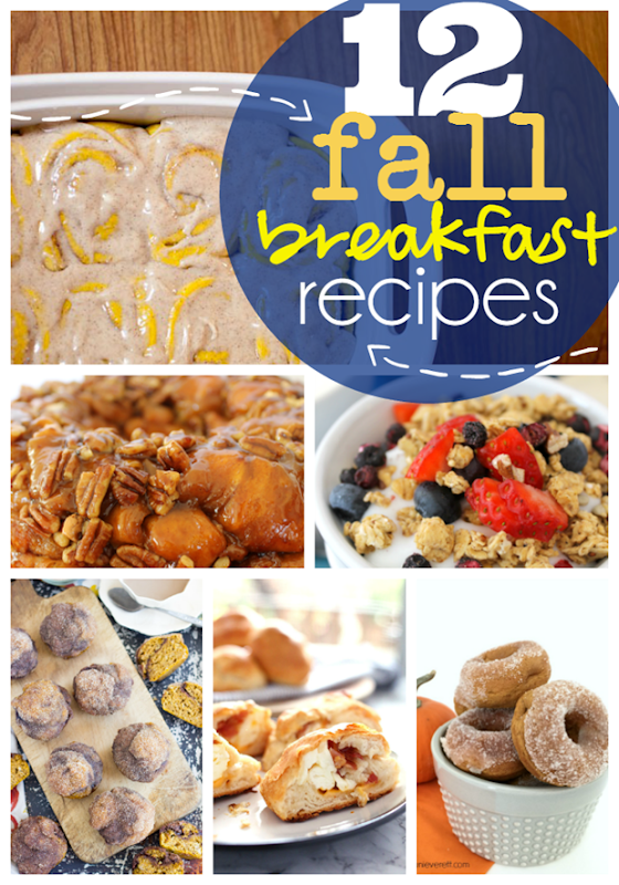 12 Fall Breakfast Recipes at GingerSnapCrafts.com #breakfast #recipes