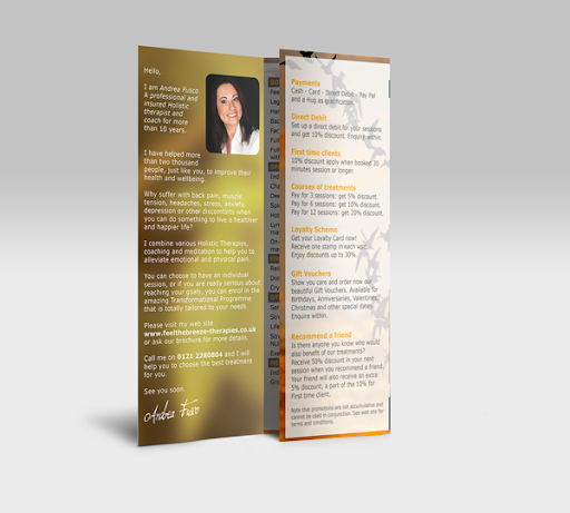 beauty - holistic therapies meditation brochure