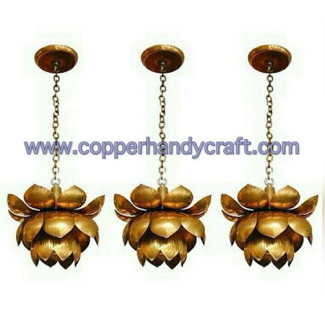 lampu gantung bunga tembaga