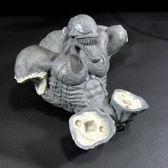 Escultura de venom Figura en Proceso