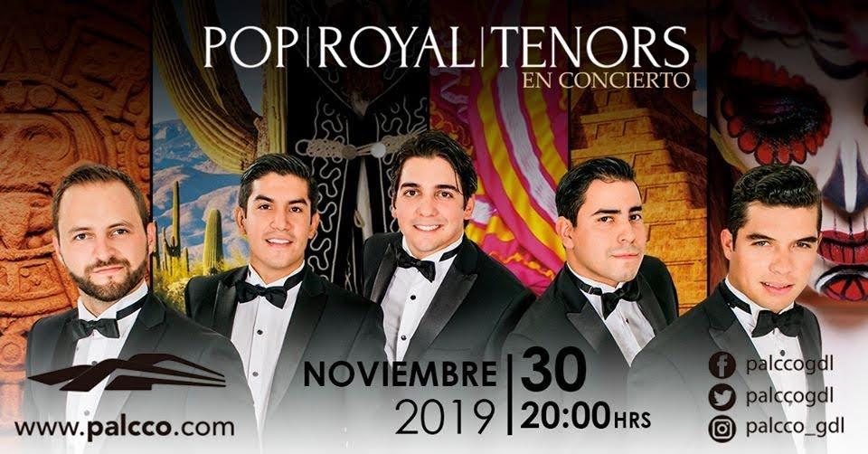 #CORTESÍAS #DateAlaFuga / Pop Royal Tenors en Concierto