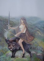 Celtic Goddess Arduinna Image