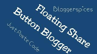 Floating Share Buttons Blogger