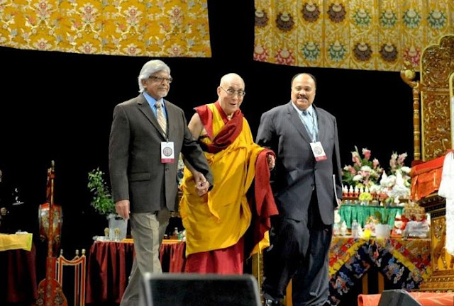 His Holiness the Dalai Lama's birthday celebration with Martin Luther King III and Arun Gandhi