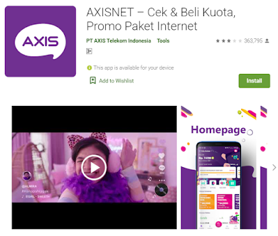 cek pulsa axis via aplikasi axisnet