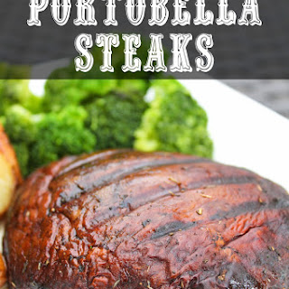 Portobello Steaks and Lemon Herb Potatoes