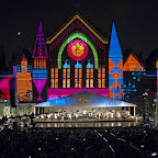 Lumenocity 2015, Music Hall, Cincinnati, Ohio. August 7, 2015. Cincinnati Symphony Orchestra led by Louis Langré