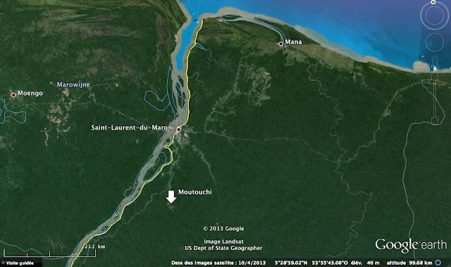 Le Gîte Moutouchi au sud de Saint-Laurent-du-Maroni