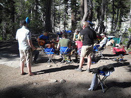 Bluhm and friends back at base camp.