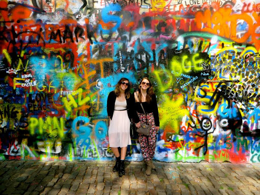 Katie Stavros at the John Lennon Wall, Prague. #StudyAbroadBecause... it will be the best four months of your life!