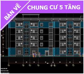 Bản vẽ chung cư 5 tầng