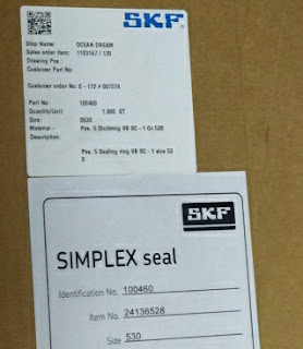 For Sale Stern tube Seals SKF for shaft SIMPLEX -COMPACT size 530 Email: idealdieselsn@hotmail.com (main) idealdieselsn@gmail.com (cc)