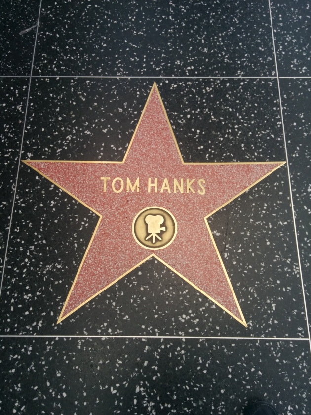 Tom Hanks star on the Hollywood Walk of Fame