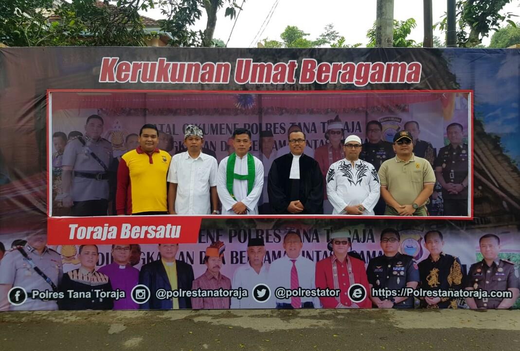 Usung Toraja Cinta Damai, Polisi Deklarasi Tolak Kerusuhan di Lapangan Kodim