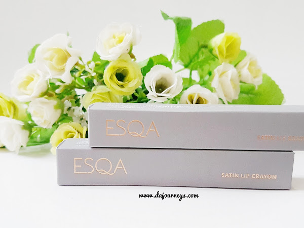 [Review]  ESQA Satin Lip Crayon Poppy Peach and Twisted Nude