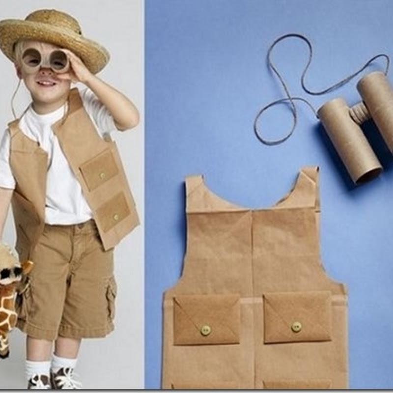 Original Disfraz casero de explorador hecho de papel