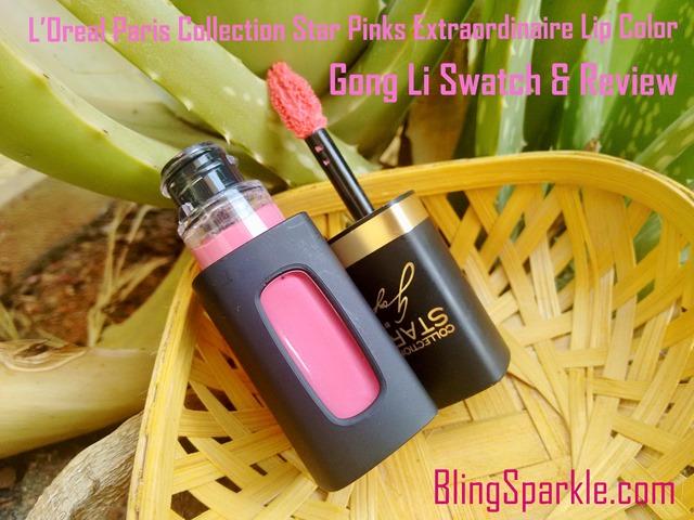 Gong Li Loreal paris pink collection