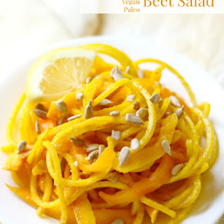 Sunshine Spiralized Beet Salad