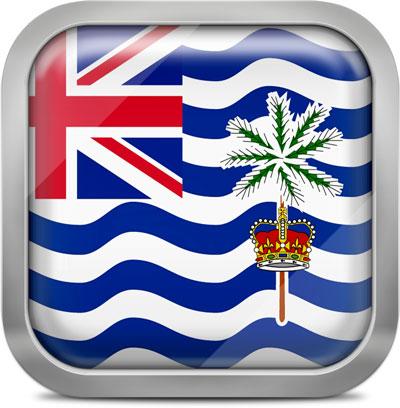 British Indian Ocean Territory square flag with metallic frame