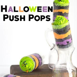 Easy Halloween Push Pops