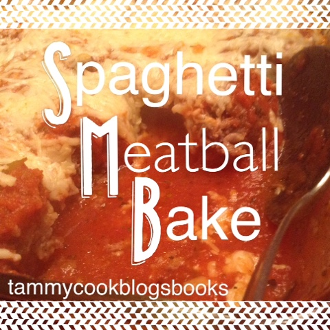 Spaghetti Meatball Bake ~ source:tammycookblogsbooks