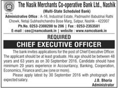 NAMCO Bank Jobs 2016 CEO