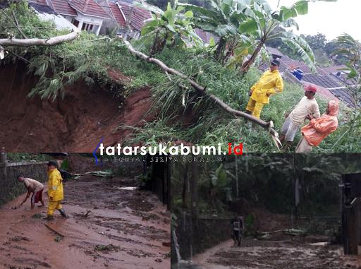 Longsor dan Jalan Amblas di Sukabumi