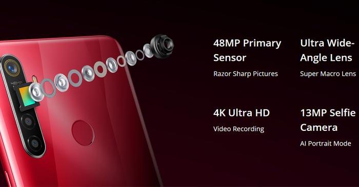 Realme 5s Spesifikasi Kamera