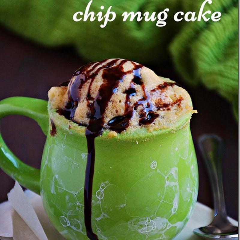 Vanilla chocolate chip mug cake / Vanilla mug cake with egg / Recipe with video