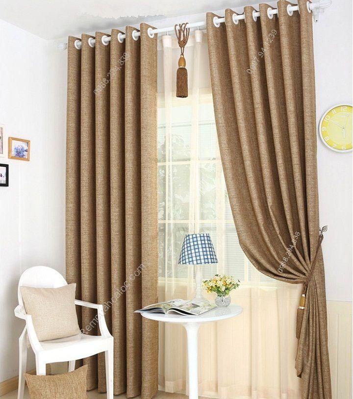 Rèm cửa đẹp hà nội một màu vàng 2
