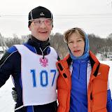 А.Пахомов - 1 место в лыжной гонке в категории до 35 и С.Пахомова (2 место в категории до 35)