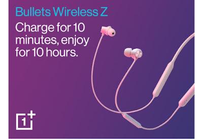 OnePlus Wireless Z  बुलेट इयरफोन
