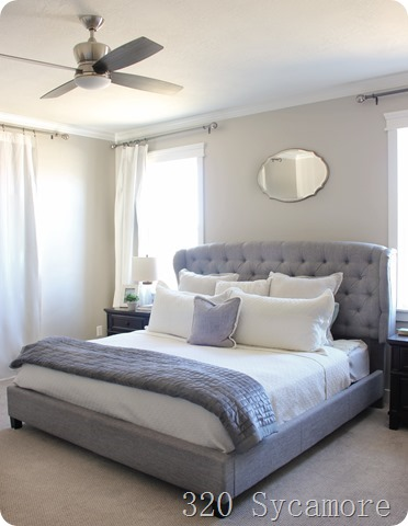 master bedroom upholstered bed
