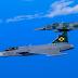 Confira as Imagens do Caça F-39E Gripen escoltado por caças F-5E/F no traslado para Gavião Peixoto.