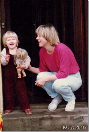 Trine og Lene april 88