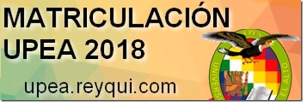 Matriculación UPEA 2018