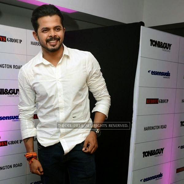 Sreesanth at the launch of Essensuals salon in Chennai.