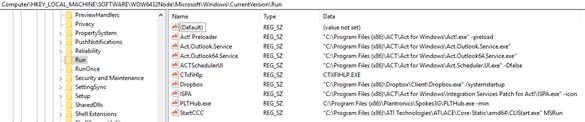 HKLM - Run Registry