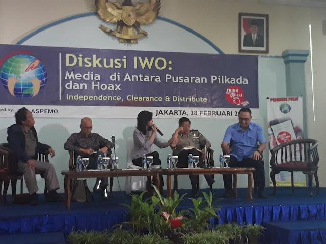Ketum IWO: Wartawan harus Netral dan Independen di Pilkada