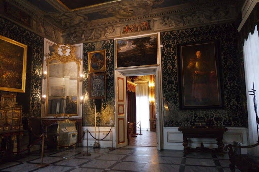 Dressing room of queen at Wilanow Palace in Warsaw Poland