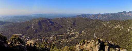 Depuis le sommet de Punta d'Ortu vers Conca