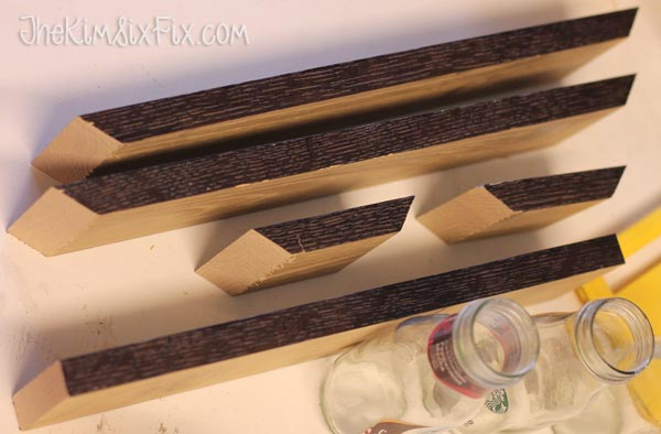 Wooden pieces of window box