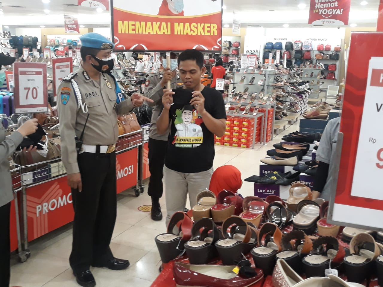 Polres Purwakarta Gencar Melakukan Operasi Yustisi di Pusat Perbelanjaan