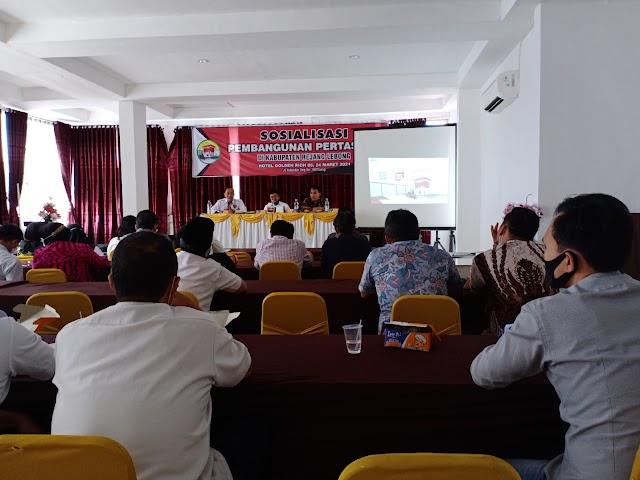 Sosialisasi pembangunan pertashop di Kabupaten Rejang Lebong.
