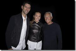 Giorgio Armani, Novak Djokovic e Jelena Djokovic - SGP
