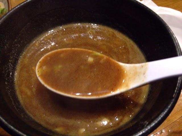 狸穴 濃厚つけ麺大盛 つけ汁アップ