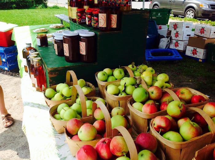Halls Apple Market goodies at the Manotick Farmers Market