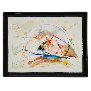 Bill Quinn Signed Contemporary Abstract Watercolor Painting